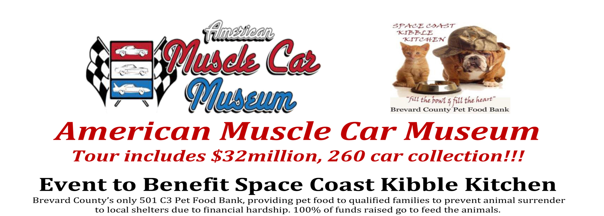 American Muscle Car Museum Fundraiser for Space Coast Kibble Kitchen