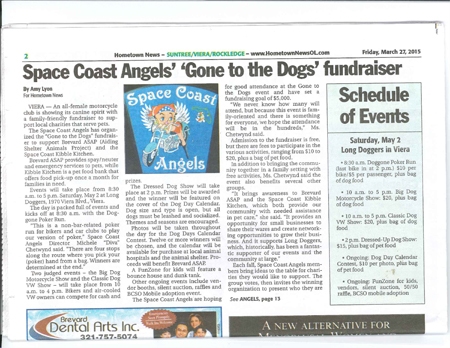 "Click the image above to view the full Hometown News article (3/27/2015) about the Space Coast Angels and their upcoming ""Gone to the Dogs"" fundraiser!"