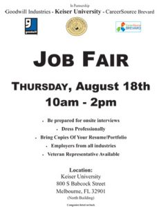 Keiser Univerity / Goodwill Space Coast Job Fair