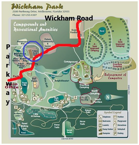 Map of Wickham Park